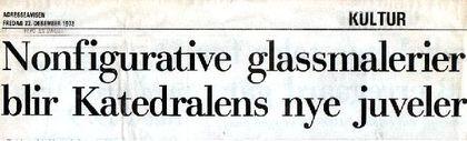 Overskrift i Adresseavisen.