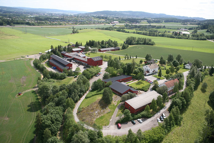 Flyfoto Hellerud gård i Skedsmo kommune