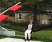 Kari Clausen i Canadas største hengekøye - i et économusée naturligvis