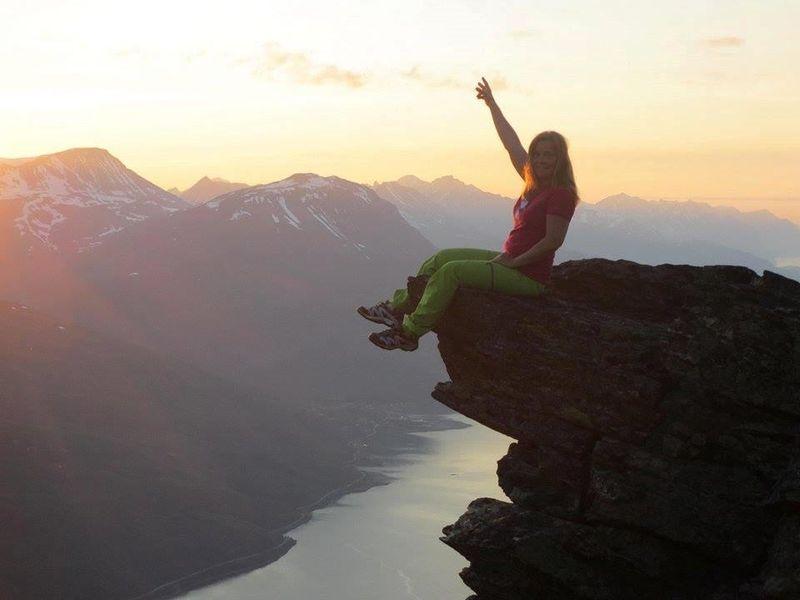 På toppen av Falsnesfjellet