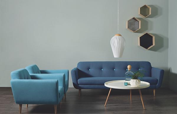 Enormt Blå velour sofa bohus   Om konstruksjon FD-92