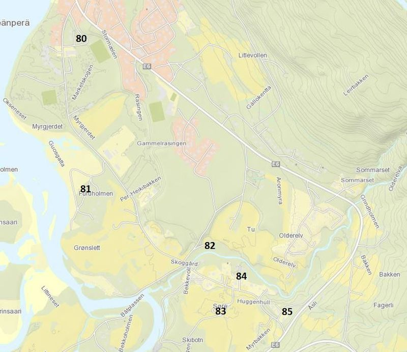 Kart veinavn Gammelveien