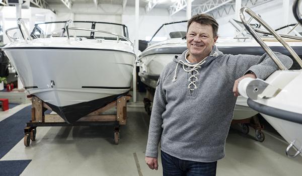 montere baugpropell på båt