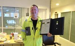 Tore Botnen Bryntesen ble hedret med Medaljen for lang og tro tjeneste ved Statoil.