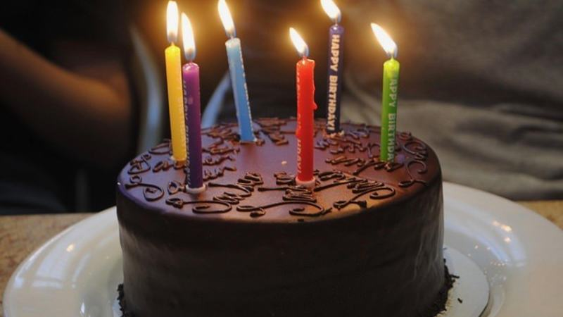 Birthday Cake by Alan & Flora Botting