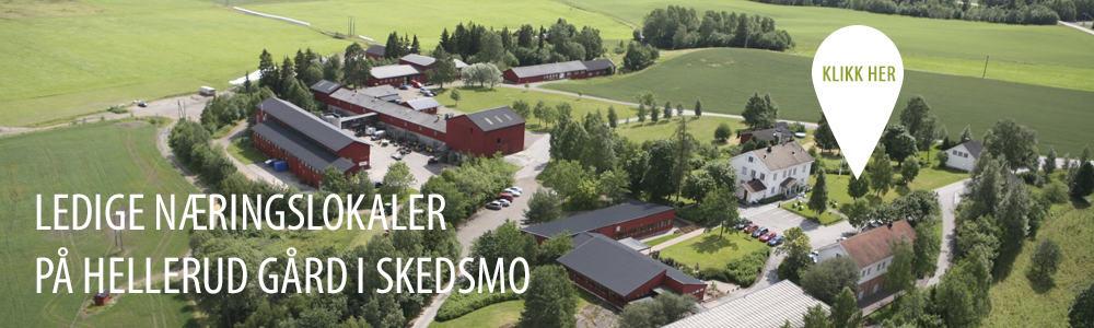 Ledige næringslokaler på Hellerud gård i Skedsmo