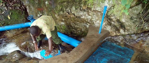 Eco Gardens Rwenzori pico hydro power intake