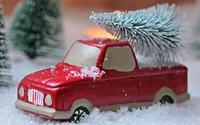 lekebil med juletre