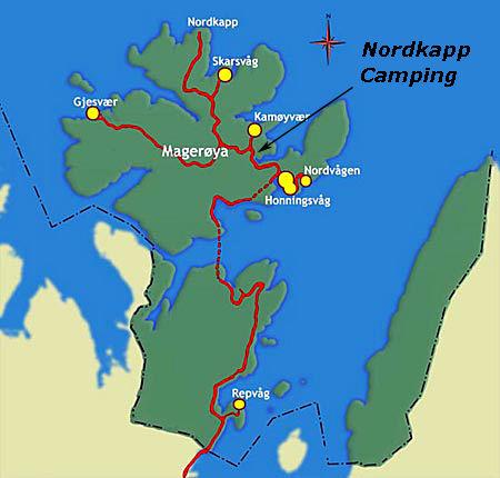 magerøya kart Welcome   Nordkapp Camping AS magerøya kart