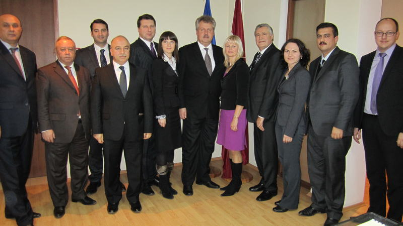 Reception at Latvian Embassy