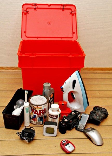 bilde av rød boks med innhold