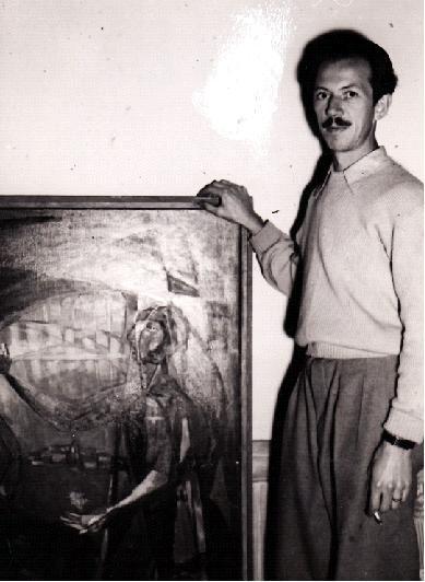 Oddmund Kristiansen debuterte i Trondheim Kunstforening i 1944, 24 år gammel.
