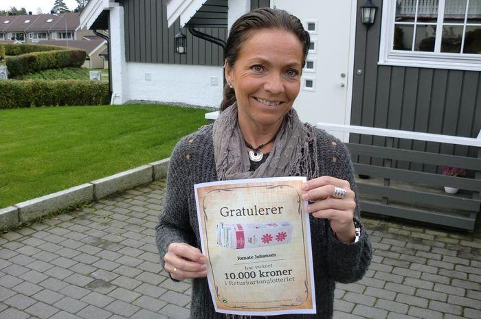 Returkartongvinner Renate Johansen