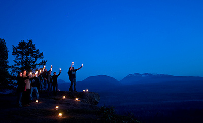Celebrating Earth Hour in Canada, 2010.© Jeremiah Armstrong/WWF-Canada. All rights reserved.