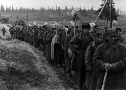 krigsfanger i tog