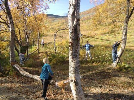 Klatrejungel. Foto: Skjervøy kommune.