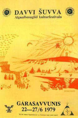Plakat laget av Nils-Aslak Valkeapää