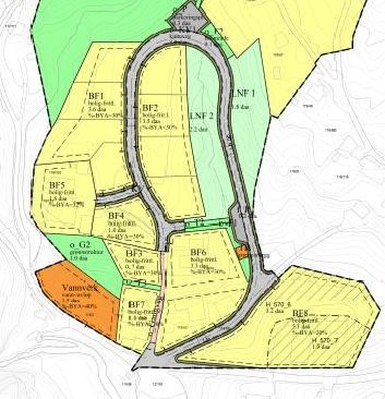 Haukås - Kart illustrasjon