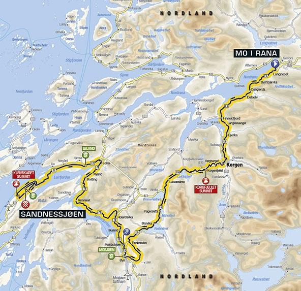 kart over mo i rana Kart over etappe 2 Mo i Rana   Sandnessjøen   Leirfjord kommune