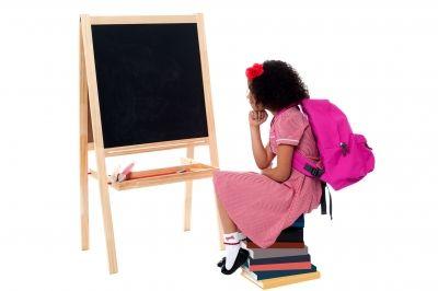 Elev foran tavle