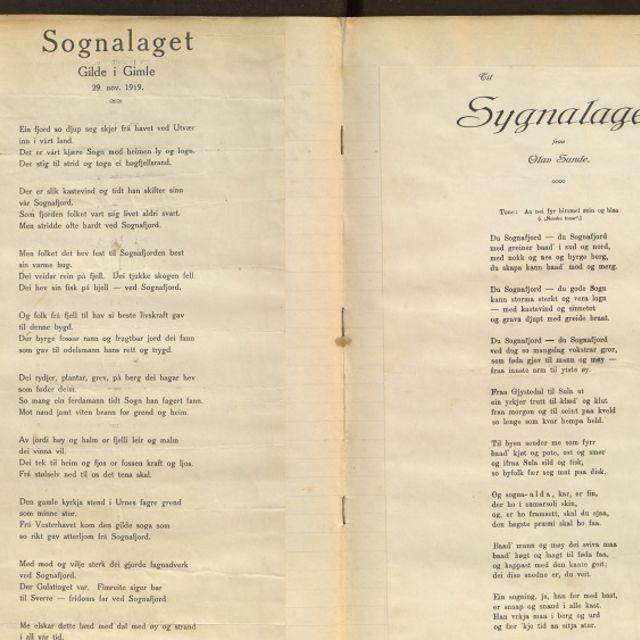 Frå første møteboka til Sognalaget i Bergen