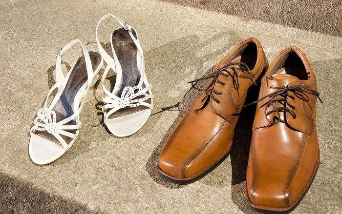 Kvinne og mann sko