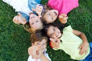 """""""Group Of Childrens Having Fun In The Park"""" by nenetus"""