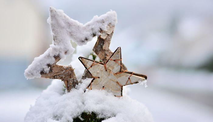 Jul Vinter Snø Stjerner
