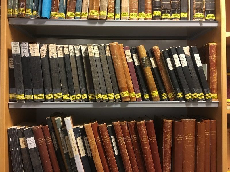 Hylle med bøker