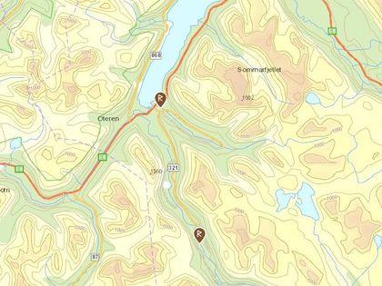 Tjæremiler Signaldalen kart