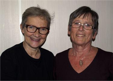 Kine Hellebust og Anne Osvaldsdatter Bjørkli. Foto: Privat.