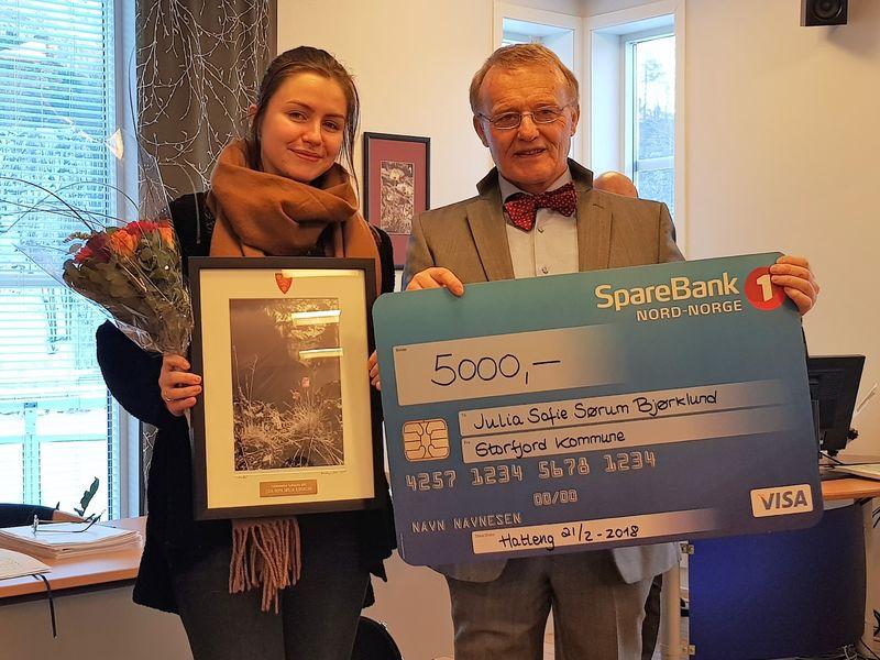 Julia og ordføreren med kulturprisen