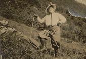 Magda Beyer på veg til Brekkenipa, juli 1916