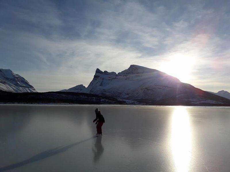 Is på Storfjorden februar 2018 Foto Ann-Sofie Fagerhaug
