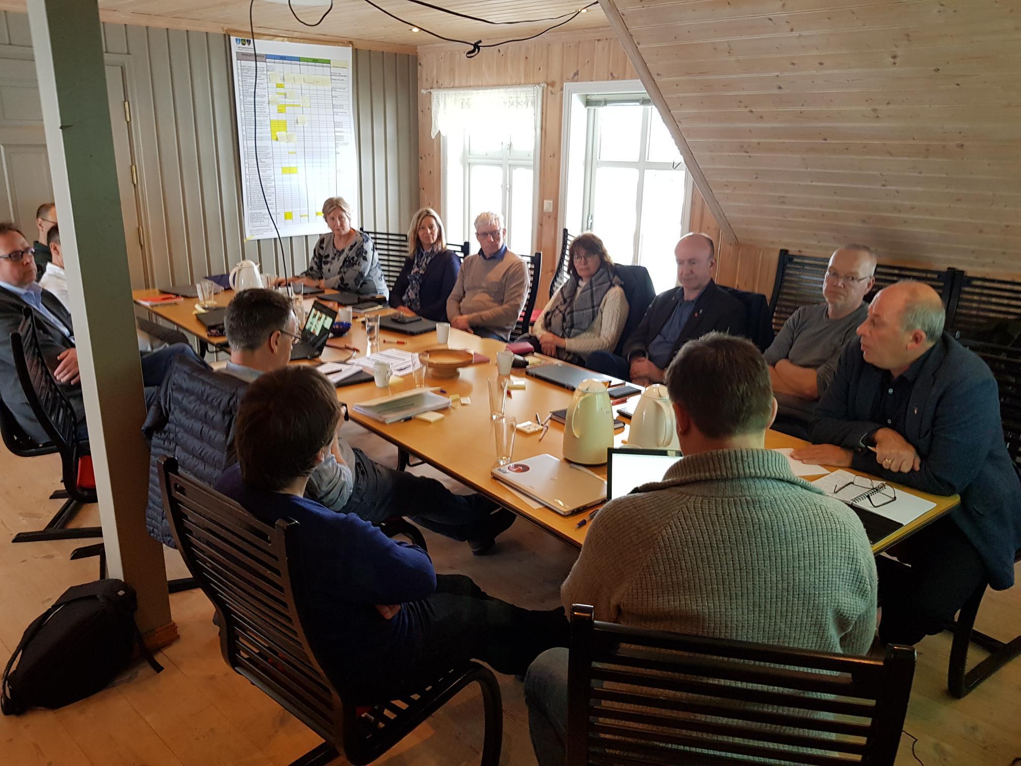 Diskusjon i administrativ styringsgruppe