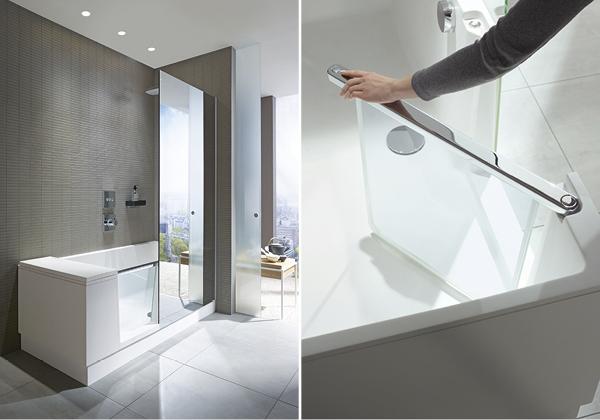 badekar og dusj i ett IN magasi: Walk in dusj & badekar badekar og dusj i ett