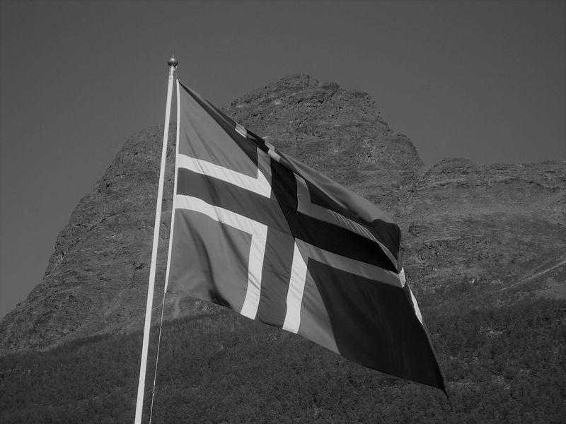 Svart-hvitt flagg