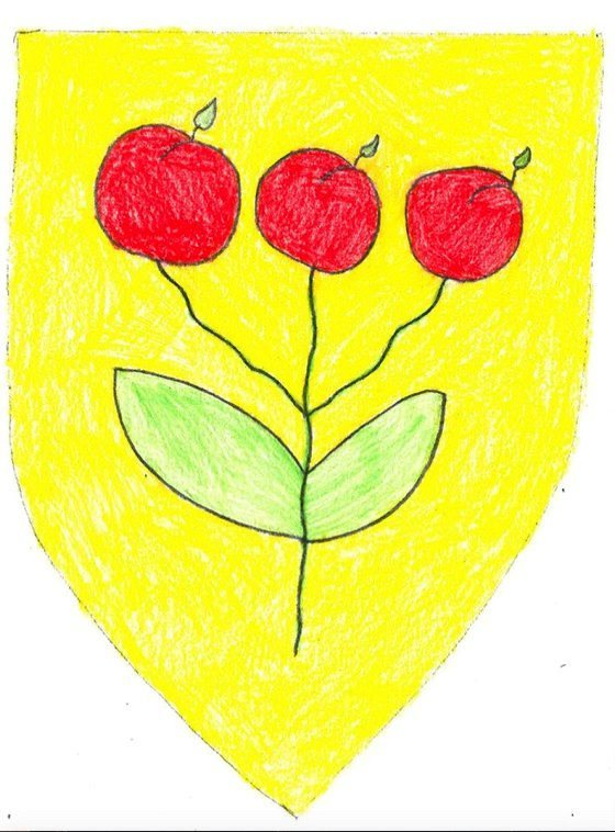 Tre eple på varm gulfarge av Sander Osen Låksrud.jpg