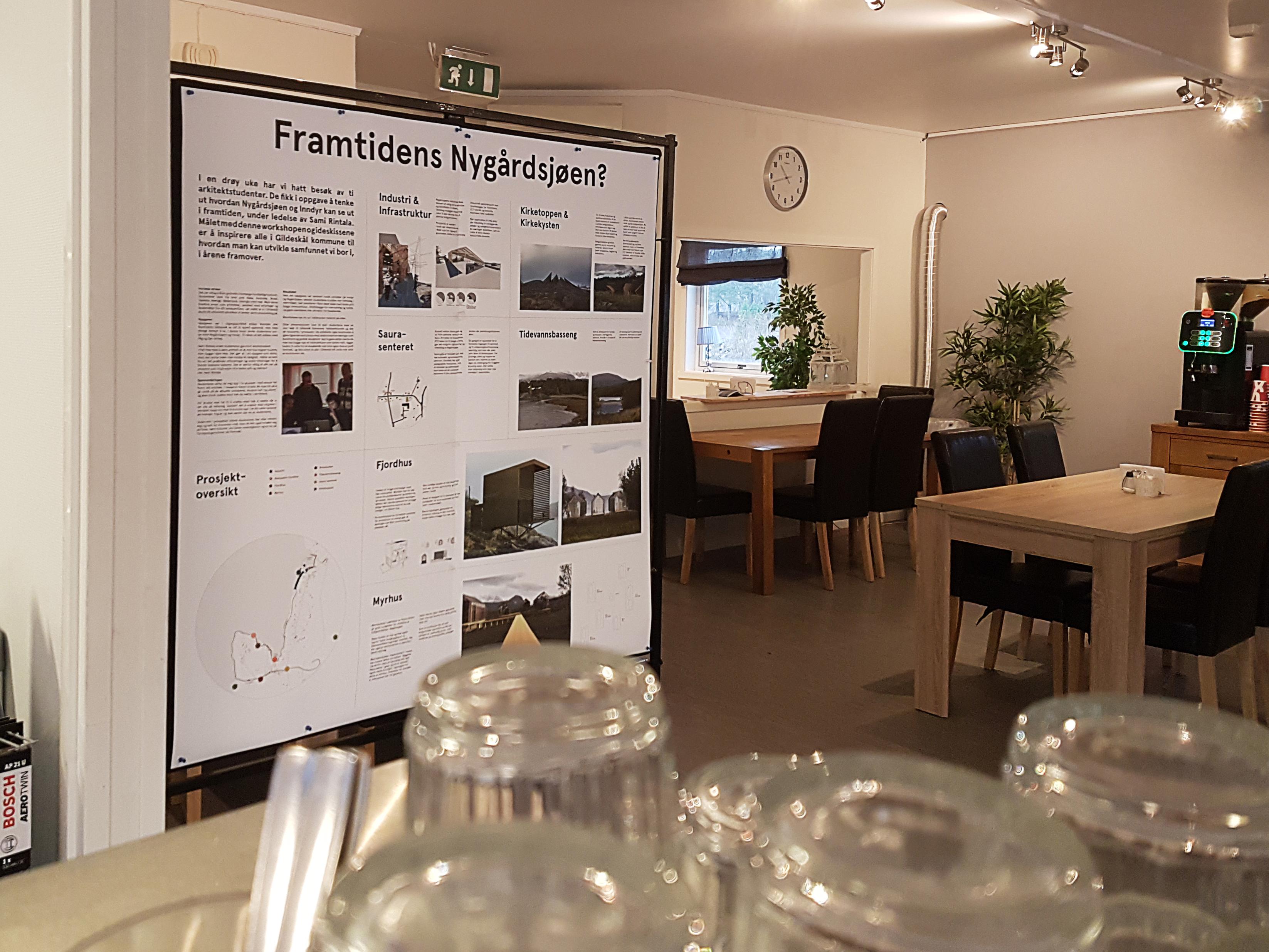 Plakat på Nordfjorden mat & bensin