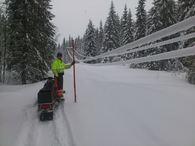 snø på linje montør Arne Haugen2