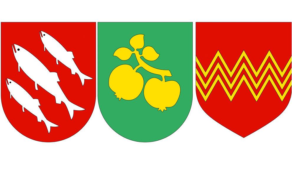 Bykommunen Florø, Leikanger og Årdal var dei tre første med godkjende kommunevåpen i Sogn og Fjordane.