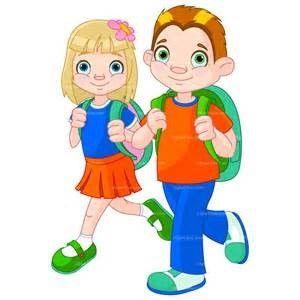 barneteam illustrasjon gutt jente