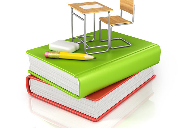 bøker stol blyant