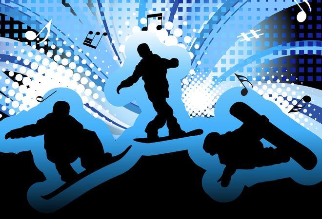 snowboard og musikk