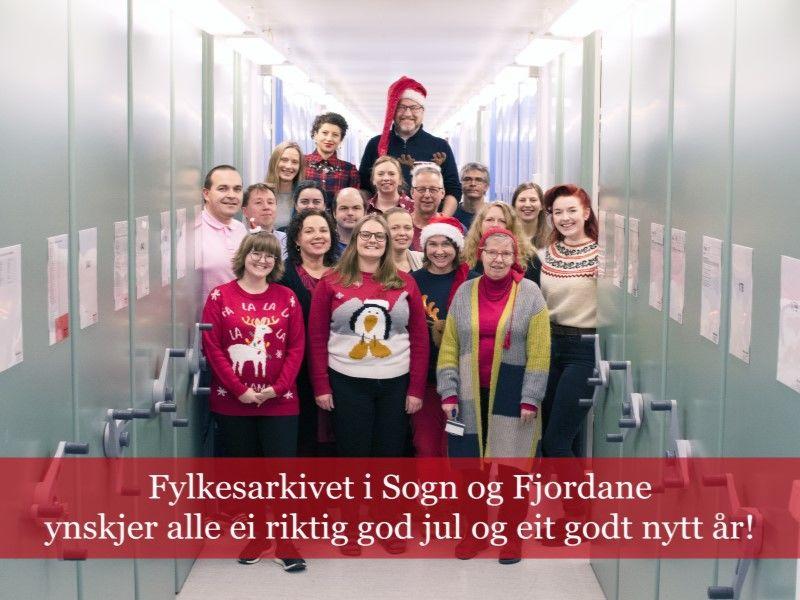 Julehelsing frå Fylkesarkivet i Sogn og Fjordane 2019