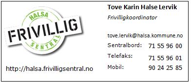 Kontaktinfo Halsa Frivilligsentral