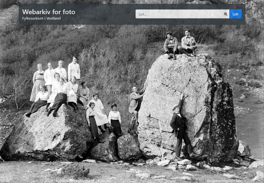 Skjermdump av framside på webarkiv.