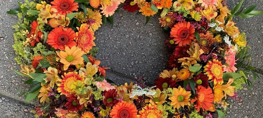 Farvel i sesongens blomster
