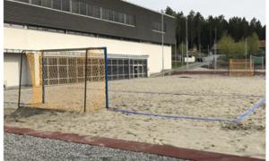 Grevlingen beachhåndball bane