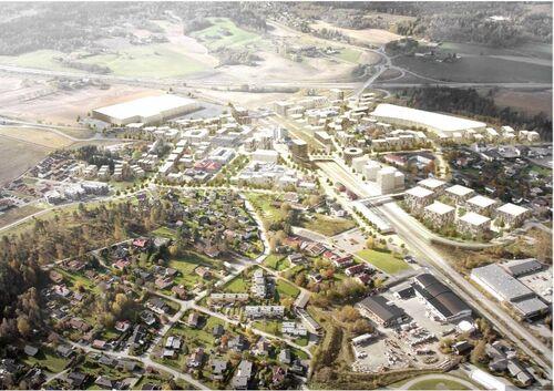 Fremtidens Vestby. Illustrasjon